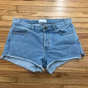 American Apparel ButtonFly Jean Shorts